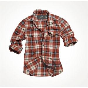 Košeľa SURPLUS® Woodcutter s dlhým rukávom - červená (Farba: Červená, Veľkosť: XXL)