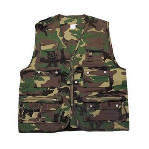 Letná lovecká a rybárska vesta Mil-Tec® - woodland (Farba: US woodland, Veľkosť: L)