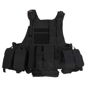 Taktická vesta MFH® Ranger - čierna (Farba: Čierna)