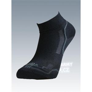 Ponožky so striebrom Batac Classic short - black (Farba: Čierna, Veľkosť: 7-8)
