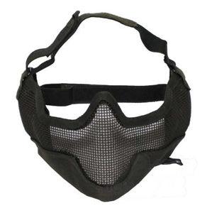 Ochranná tvárová maska MFH® Airsoft - olív
