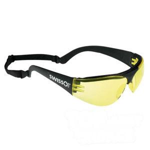 Okuliare športové strelecké SWISS EYE® PROTECTOR - žlté (Farba: Čierna, Šošovky: Žlté)