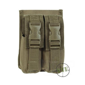 Dvojité puzdro na granáty M84 Voodoo Tactical (Farba: Coyote)