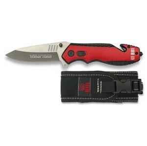 Zatvárací nôž záchranársky RUI® 19536 - čierno-červený