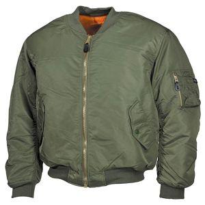 """Bunda MFH® Flight Jacket MA1 """"Bomber"""" - olív (Farba: Olive Green , Veľkosť: M)"""
