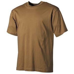 Bavlnené tričko klasického štýlu US army MFH® s krátkym rukávom - coyote (Farba: Coyote, Veľkosť: M)
