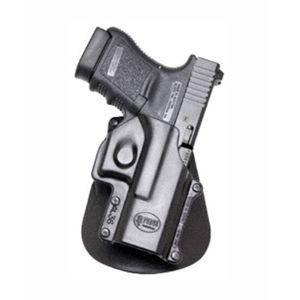 Pistolové pouzdro FOBUS® GL-36 LH EX BH stehenní s opaskovým průvlekem na pistoli Glock - pro leváky