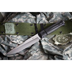 Nôž s pevnou čepeľou Kizlyar SUPREME® Alpha AUS 8 - čierny Satin (Farba: Čierna, Varianta: stříbrná čepel – Satin)