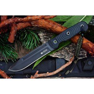 Nôž s pevnou čepeľou Kizlyar SUPREME® Maximus AUS 8 - čierny Titanium (Farba: Čierna, Varianta: černá čepel – Titanium Coating)
