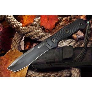 Nôž s pevnou čepeľou Kizlyar SUPREME® Vendetta AUS 8 Titanium - celo-čierny (Farba: Čierna, Varianta: černá čepel – Titanium Coating)