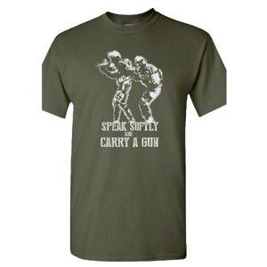 Pánske tričko SAGEAR® Speak Softly - olív (Farba: Olive Green , Veľkosť: 3XL)