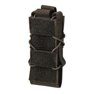 Puzdro na zásobník KDS SMG SAGEAR® so suchým zipsom na klopu - čierne (Farba: Čierna)