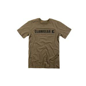 Bavlnené tričko CLAWGEAR® Logo TEE s krátkym rukávom - RAL7013 (Farba: RAL7013, Veľkosť: L)