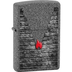 Zapaľovač Zippo Grey Brick and Flame