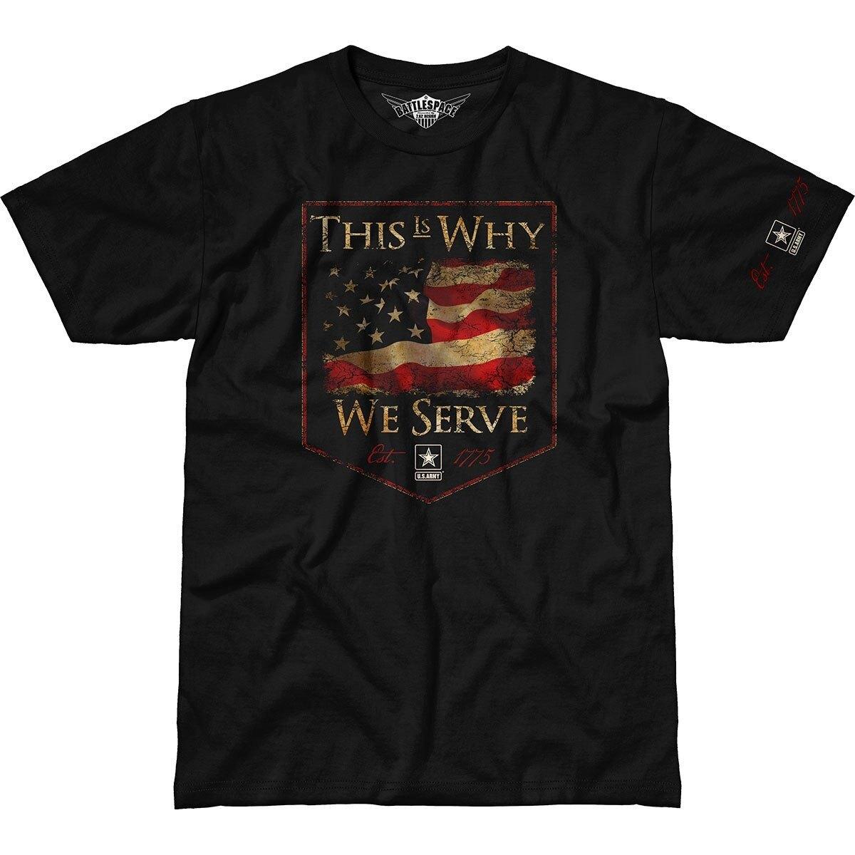 Pánske tričko 7.62 Design® Army This Is Why We Serve - čierne (Veľkosť: XXL)