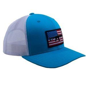 Kšiltovka BRCC® Flag AR Patch Trucker Hat - modrá s bílou síťovinou (Farba: Modrá / biela)