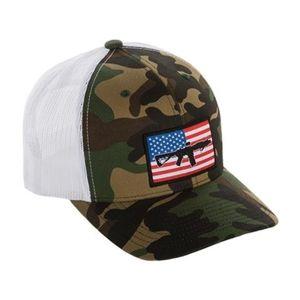 Kšiltovka BRCC® Flag AR Patch Trucker Hat - woodland s bílou síťovinou (Farba: Maskovanie / biela)