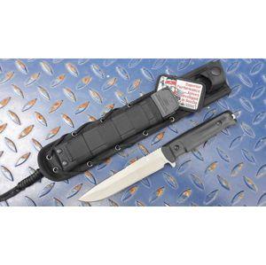 Nôž s pevnou čepeľou Kizlyar SUPREME® Alpha D2 - čierny DSW (Farba: Čierna, Varianta: šedá čepel DSW – Stone Wash)