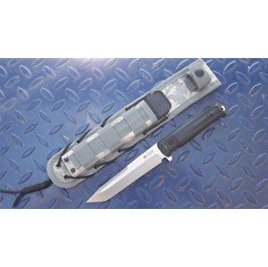 Nôž s pevnou čepeľou Kizlyar SUPREME® Aggressor AUS 8 (Farba: Čierna, Varianta: šedá čepel DSW – Stone Wash)