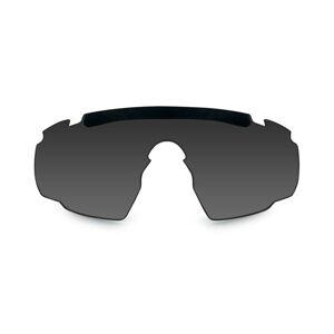 Náhradné sklo pre okuliare Saber AD Wiley X® - dymovo sivé (Farba: Čierna)