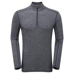 Funkčné tričko Primino® Zip Neck s dlhým rukávom Montane® (Farba: Zelená, Veľkosť: L)