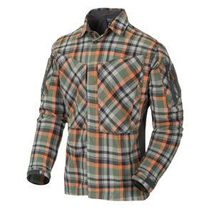 Flanelová košile MBDU Helikon-Tex® – Zelená (Farba: Zelená, Veľkosť: M)