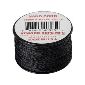 Padáková šnúra Nano Cord (300 ft) ARM® – Čierna (Farba: Čierna)